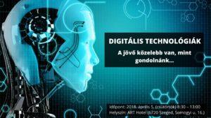 Digitális technológiák - A jövő közelebb van, mint gondolnánk @ Art Hotel Szeged | Szeged | Magyarország