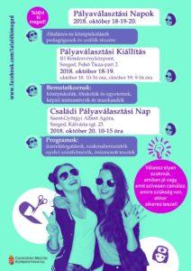 Pályaválasztási Napok 2018. október 18-20. @ IH Rendezvényközpont   Szeged   Magyarország